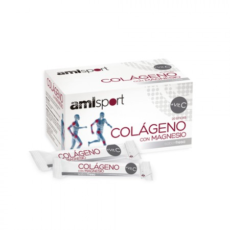 AMLSPORT COLAGENO MG + VIT C FRESA 20 STICKS