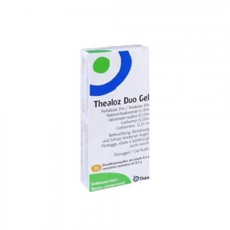 THEALOZ DUO GEL ESTERIL UNIDOSIS 0.4 G ML 30 UNIDOSIS