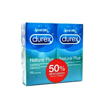 DUREX NATURAL DUPLO PLUS 12U 1 + 1-50 %