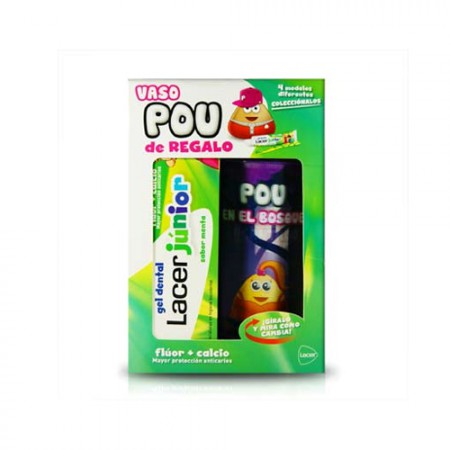 LACER JUNIOR SABOR MENTA 75 ML + VASO POU