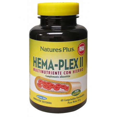 HEMA-PLEX II 60 COMP NATURE'S PLUS