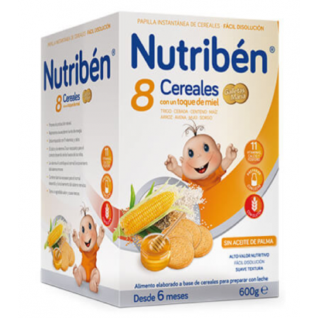 NUTRIBEN 8 CEREALES MIEL GALLETA MARIA 600 G