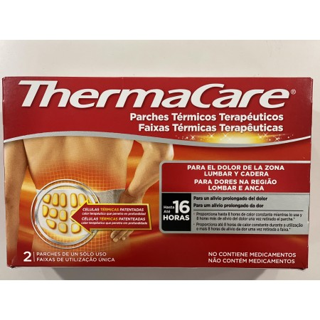 THERMACARE ZONA LUMBAR Y CADERA PARCHES 2 U