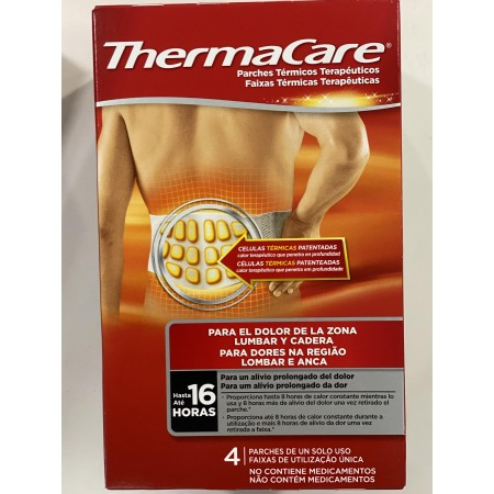 THERMACARE ZONA LUMBAR Y CADERA PARCHES 4 U