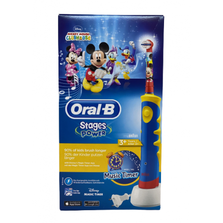 ORAL-B CEPILLO ELECTRONICO STAGES MICKEY +3 AÑOS SUAVE