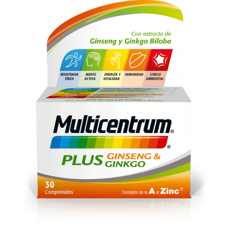MULTICENTRUM PLUS GINSENG & GINKGO 30 COMP